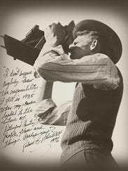 Dick Shacklett signed this photograph with the message: