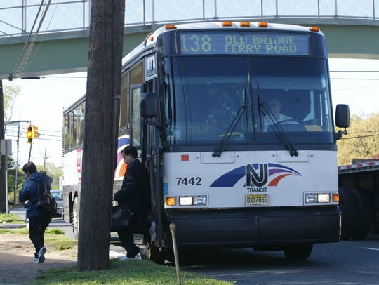 A NJ Transit bus. The new tax law eliminated the deduction owners can take for subsidizing their employees' commuting costs.