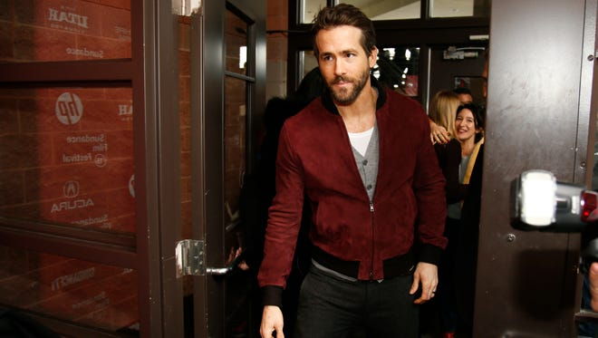 "Actor Ryan Reynolds arrives at the premiere of ""Mississippi Grind"" during the 2015 Sundance Film Festival on Saturday, Jan. 24, 2015, in Park City, Utah."