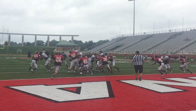 Ball State's secondary made several big plays during the team's first fall scrimmage.