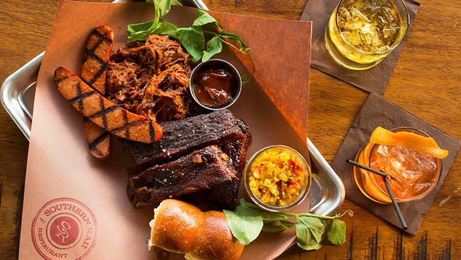 Southern Rail's BBQ and Bourbon dinner includes two barbecue dishes, sides and two bourbons for $20 on Monday and Tuesday.