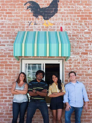 (L-R) Bar manager Jill Jones, executive chef Stephen Jones, Tea & Toast manager Allison DeVane and manager Shawn Connelly will open the Desoto Central Market in downtown Phoenix on April 11, 2015.