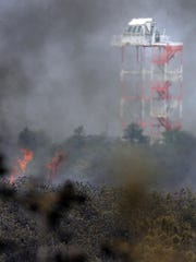 051607 - POCEAN - Fire at the Warren Grove Range - one of two observation towers is off in the distance