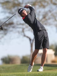 Charlie Reiter of Palm Desert tees off at Silverock