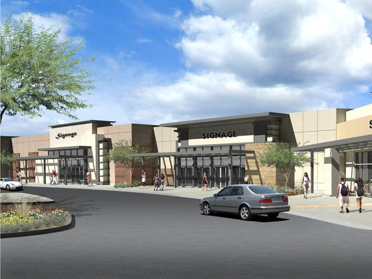 A variety of materials and colors will be used on store facades in West Towne Marketplace, said Rick Butler, president of Butler Design Group, of Phoenix.