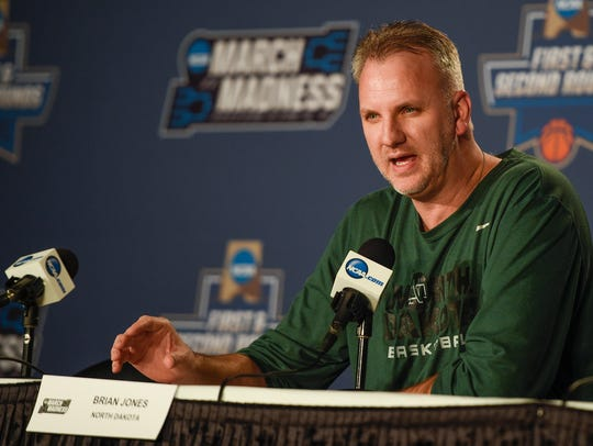 North Dakota coach Brian Jones, a coach with long ties
