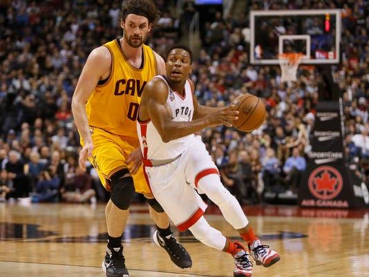 abb3d6309d9 NBA: Cleveland Cavaliers at Toronto Raptors. Toronto Raptors guard Kyle  Lowry ...