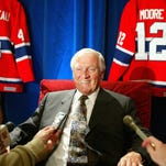 Montreal Canadiens great Dickie Moore was elected into the Hockey Hall of Fame in 1974.