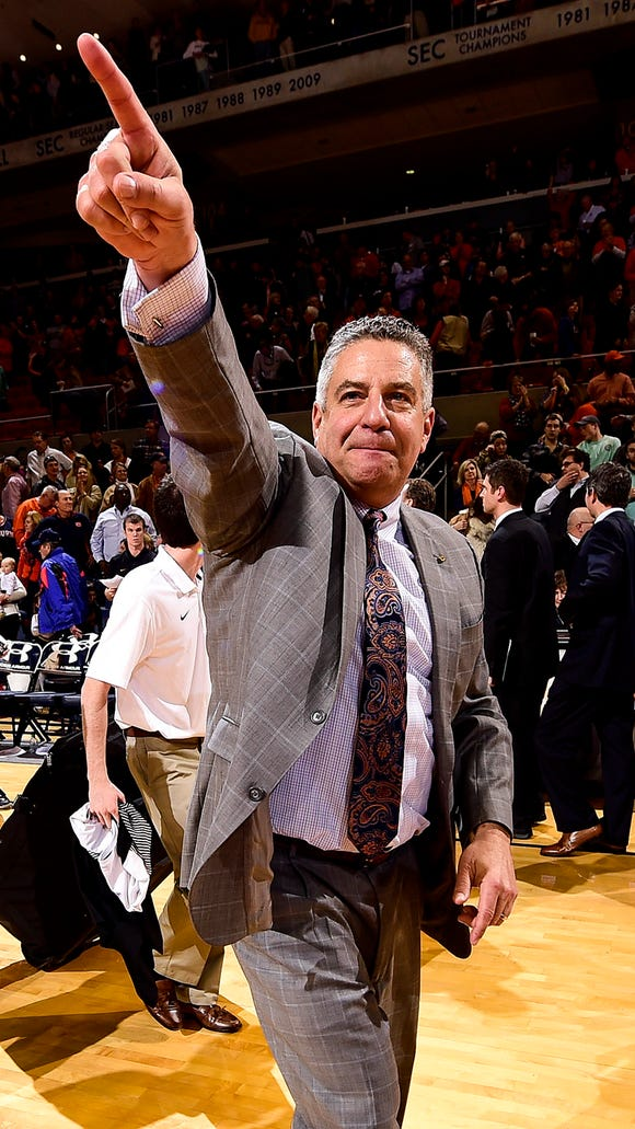 Auburn coach Bruce Pearl has put together another nationally-ranked