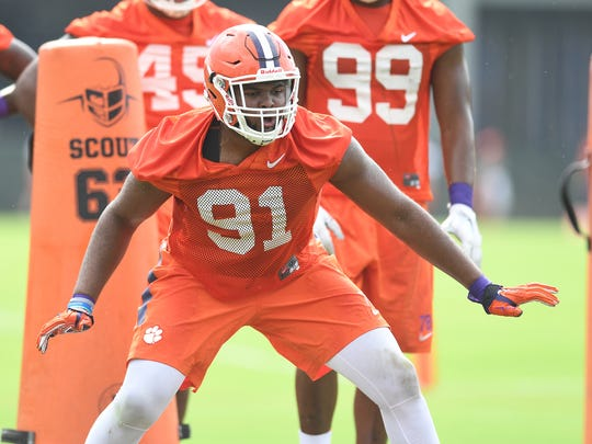 Austin Bryant was in line to be a starting defensive end for Clemson in 2016 before suffering a preseason foot injury that caused him to miss the year's first six games.