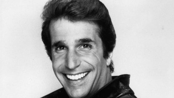 Henry Winkler as The Fonz BW