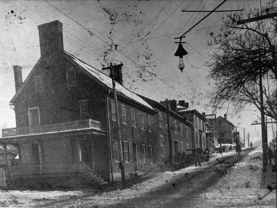 The Hardy Carriage Factory as it appeared around the