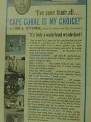 A brochure promoting early Cape Coral.