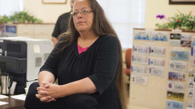 Kim Davis, the Rowan County Clerk of Courts