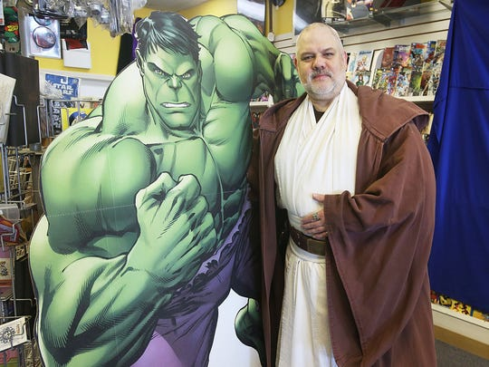 "Tony Grove as  Obi-Wan Kenobi from ""Star Wars,"" is owner of Tony's Kingdom of Comics. The shop is participating in Halloween Comic Fest on Oct. 29."