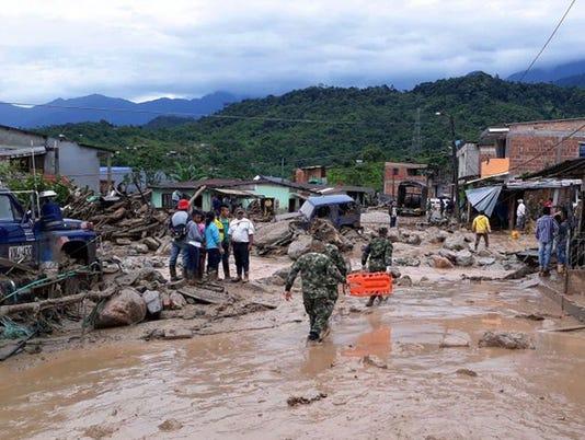 EPA COLOMBIA LANDSLIDE DIS METEOROLOGICAL DISASTER COL PU