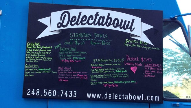 Delectabowl food truck features comfort food.