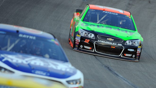 Dale Earnhardt Jr. had break problems that resulted in him making contact with Danica Patrick's car late in the Sprint Cup race in Kentucky on July 11, 2015.