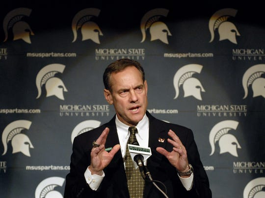 Newly hired  MSU head football coach Mark Dantonio speaks at a press conference at  MSU  Monday November 27, 2006.  Published Date: 11/29/2006, Section: Sports, Page: 1C Published Date: 11/30/2006 Published Date: 12/31/2006, Page: 10A