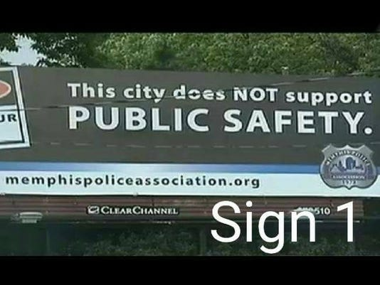Memphis police union billboard may scare tourists