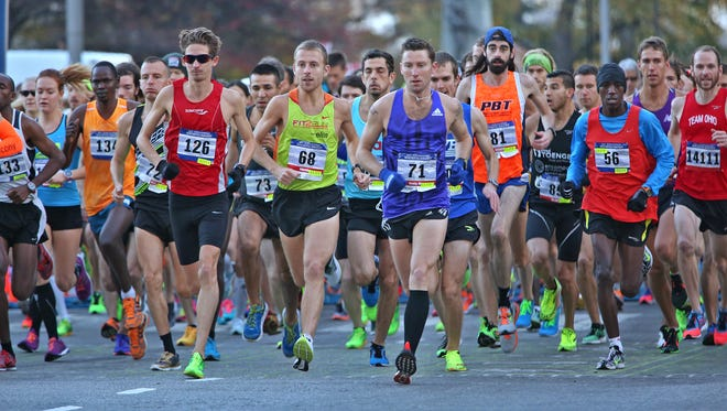 The Monumental Marathon continues to grow. This was the starting line for the 2015 race.
