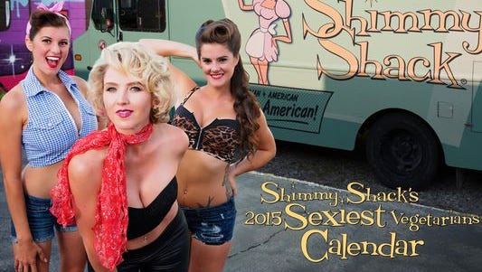"Check out some of ""sexiest vegetarians"" in Shimmy Shack's 2015 calendar."