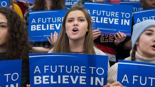 A Sanders rally in Warren, Mich., on March 5, 2016.
