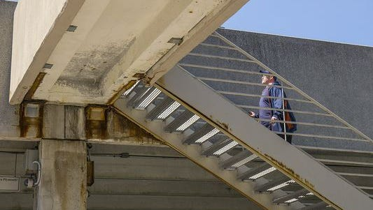 The downtown Plymouth parking deck is due for repairs, though it is considered safe.