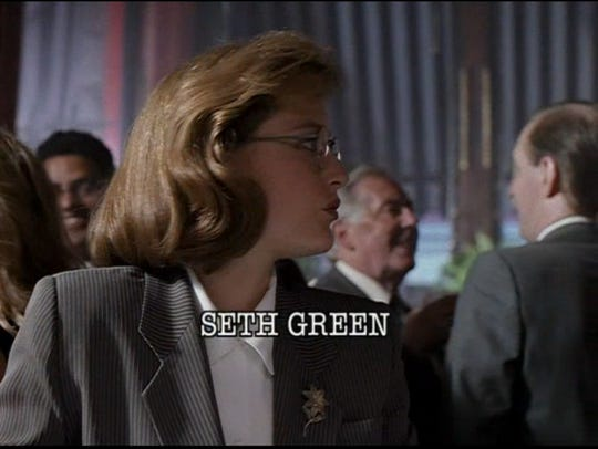 "Gillian Anderson  in the original 4x3 version of ""Deep"