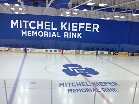 The artist's rendering of the Kiefer Rink at USA Hockey Arena.