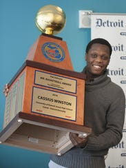 Michigan State's Cassius Winston won the 2016 Mr. Basketball