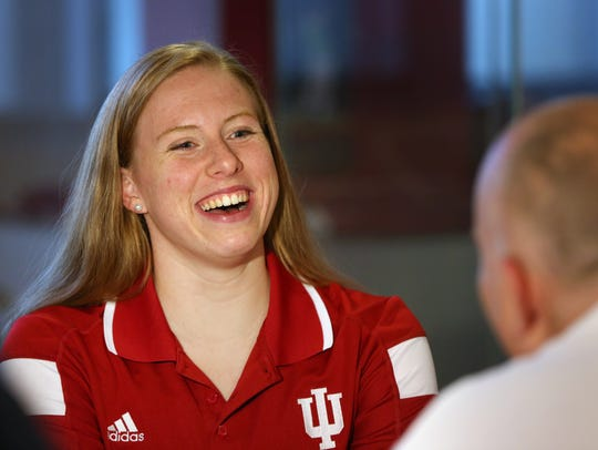 IU swimmer Lilly King.