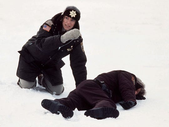 Frances McDormand (left) is shown in this scene from