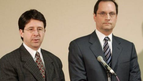 Defense team Dean Strang and Jerry Buting for Steven Avery's murder case.