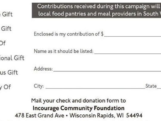 Stock the Shelves donation form.
