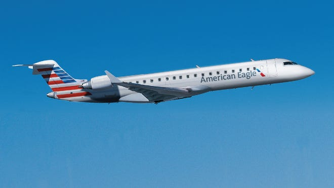 The Bombardier CRJ700 is the first American Eagle aircraft to feature a first class cabin.