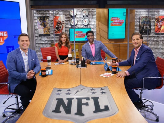 On talent for  NFLN's 'Good Morning Football'  at CBS