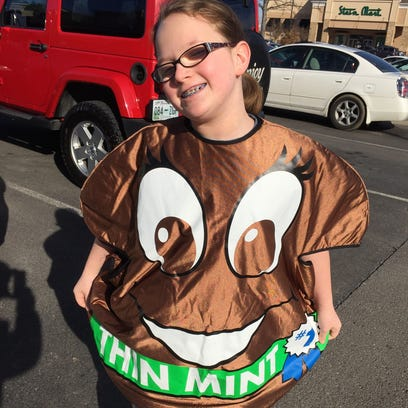 Girl Scout Cookie top seller Alexa Powers, 11, of Murfreesboro,