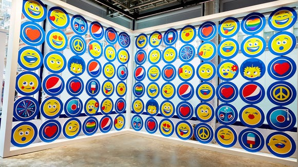 PepsiMojis are on display as part of a exhibit up in