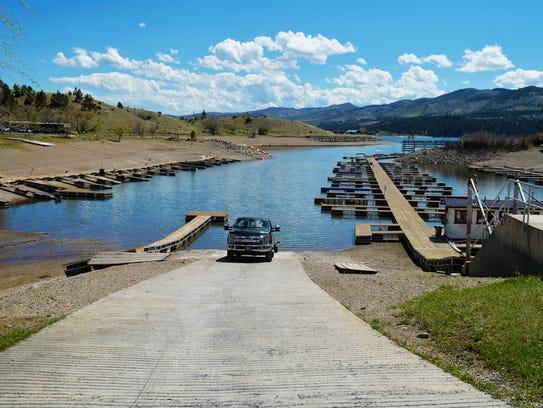 Kim's Marina at Canyon Ferry Lake has 200 dock slips.