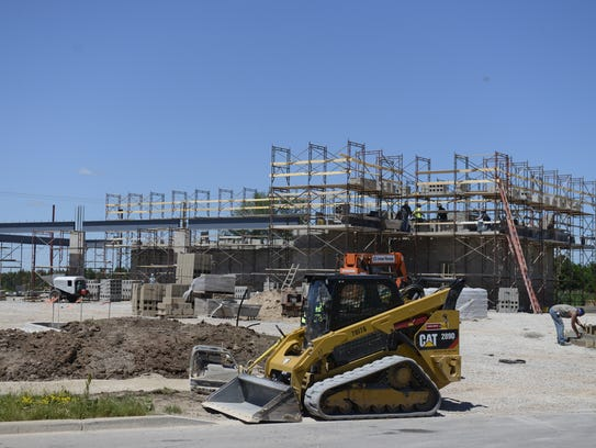 Discount Tire is under construction on County GV near