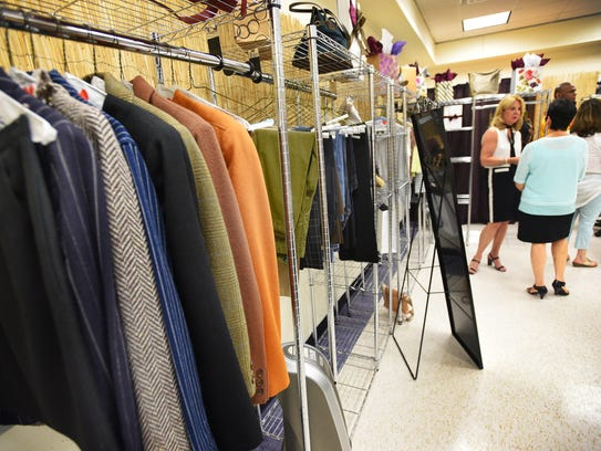 """The """"career closet""""  for students at Bergen Community"""