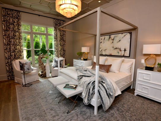 Legend Homes' master bedroom has a 12-foot ceiling