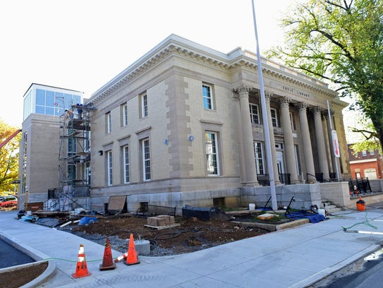 Work continues at the expanded Coyle Free Library on