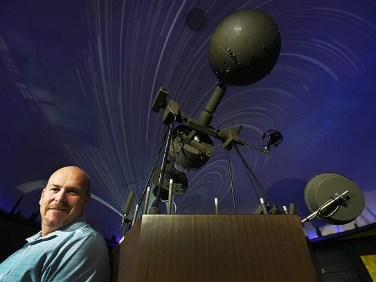 Andrew Temme, planetarium director and science teacher,