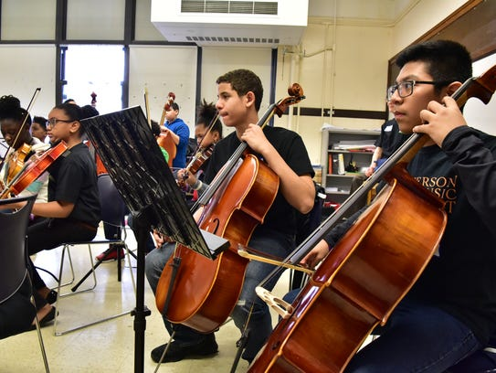 Students from seven New Jersey immersive ensemble music