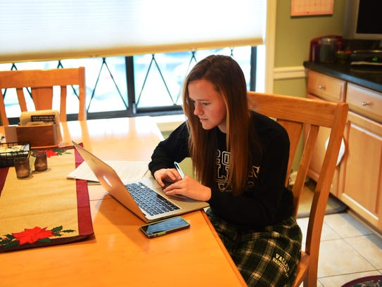 Pascack Valley Regional student Katie Gallagher works