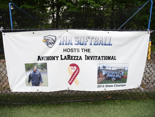 Photo copy of the banner which shows IHA coach Anthony