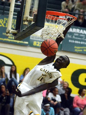 Sophomore post Zool Kueth is one of Gallatin High's post options this season.