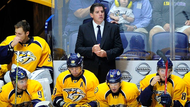 Predators coach Peter Laviolette cautioned reading too much into his new practice groups at training camp.